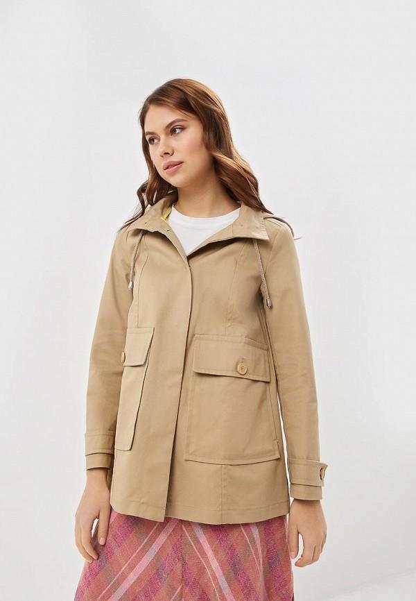 женская куртка united colors of benetton, бежевая