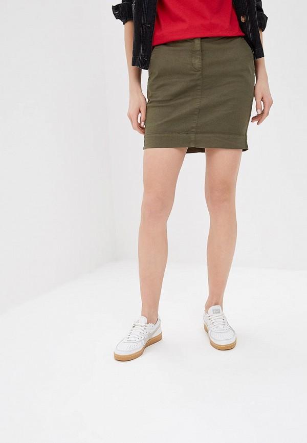 женская прямые юбка united colors of benetton, хаки