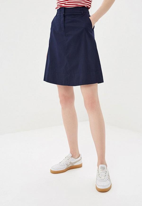 женская прямые юбка united colors of benetton, синяя