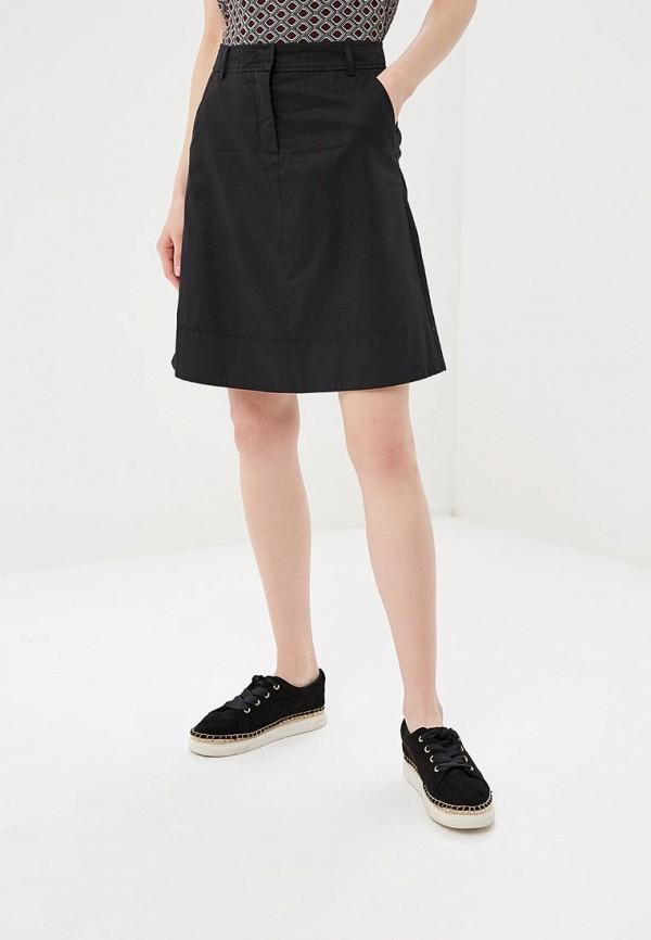 женская прямые юбка united colors of benetton, черная
