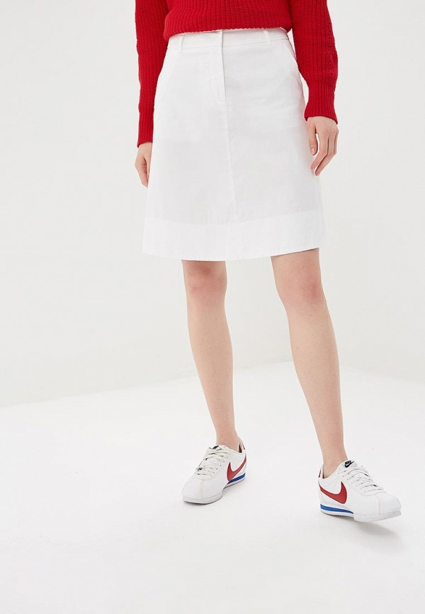 женская прямые юбка united colors of benetton, белая