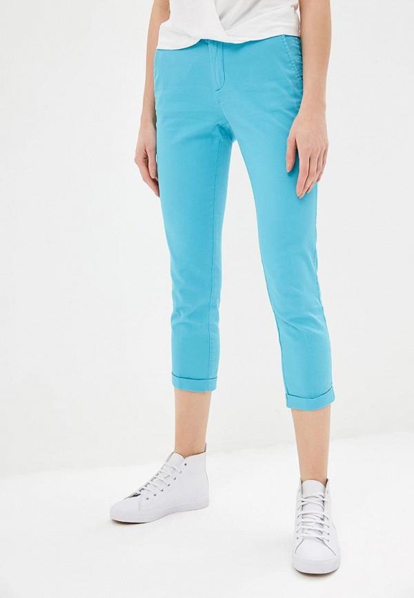 женские повседневные брюки united colors of benetton, голубые