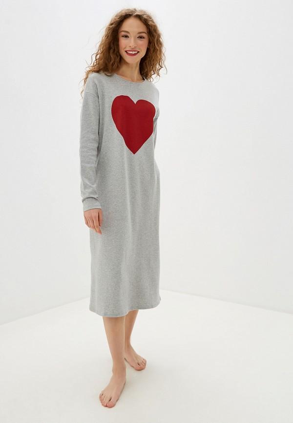 женское платье united colors of benetton, серое