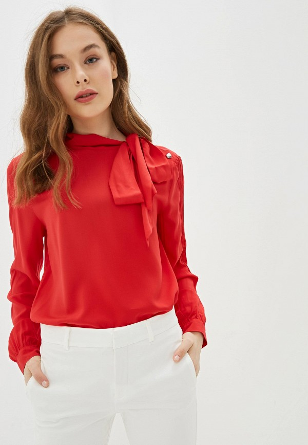 женская блузка united colors of benetton, красная