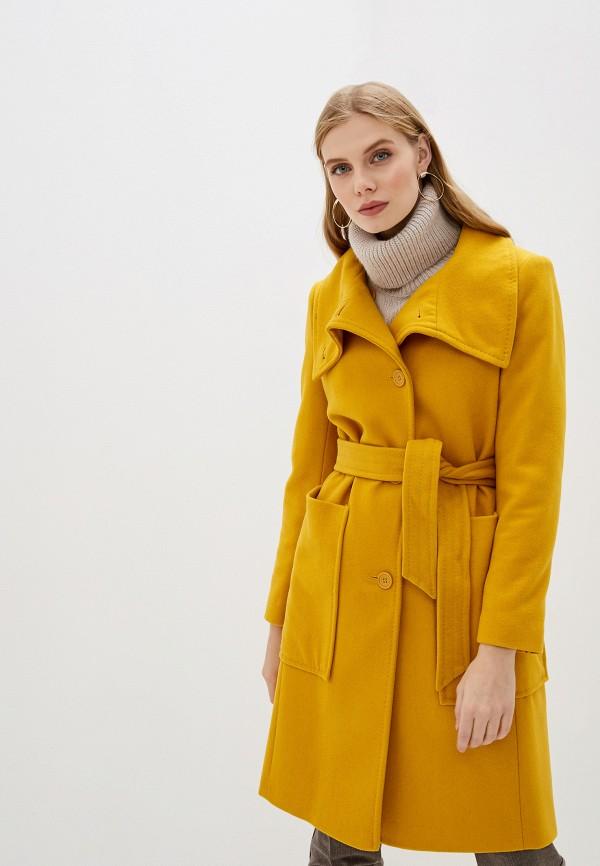 женское пальто united colors of benetton, желтое