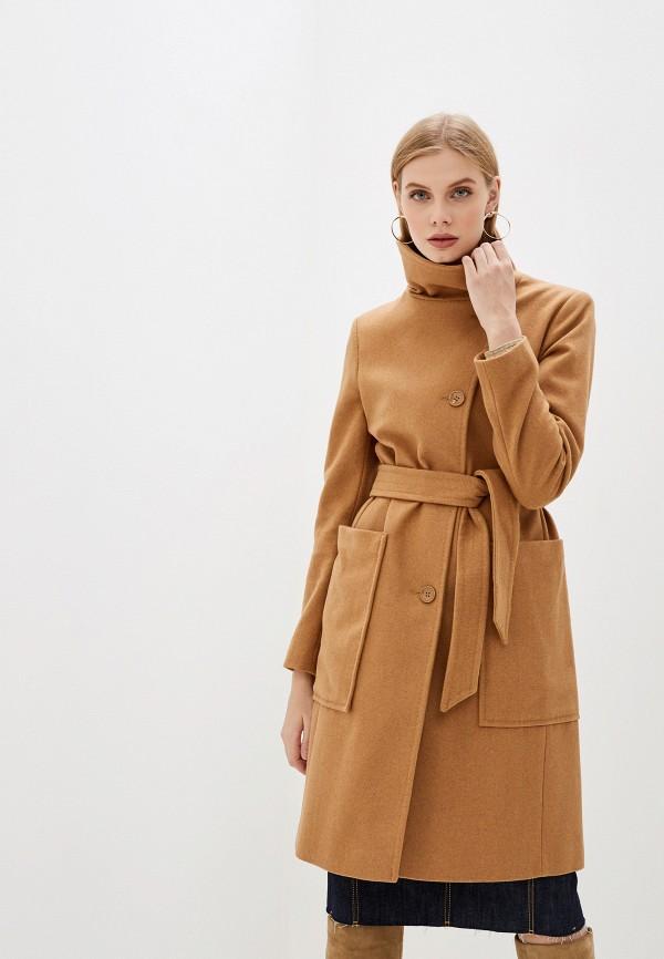 женское пальто united colors of benetton, бежевое