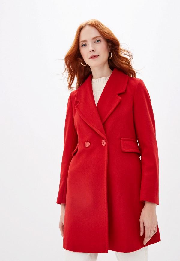 женское пальто united colors of benetton, красное