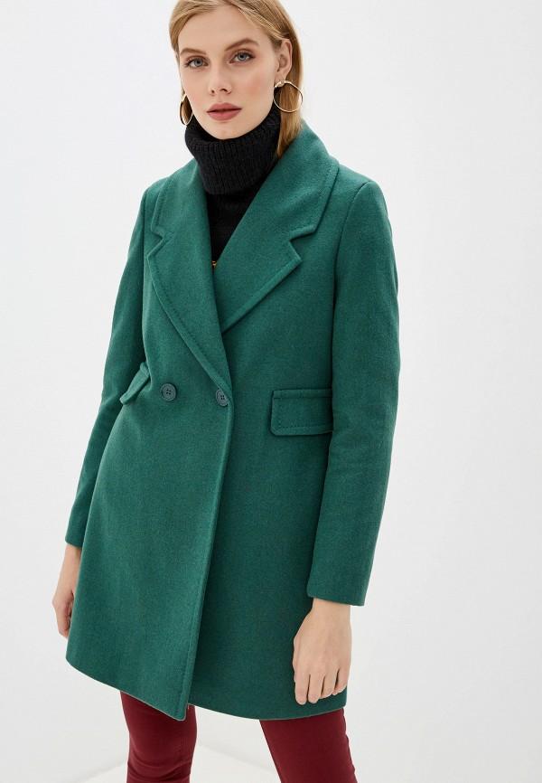 женское пальто united colors of benetton, зеленое