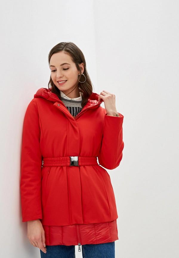 женская куртка united colors of benetton, красная