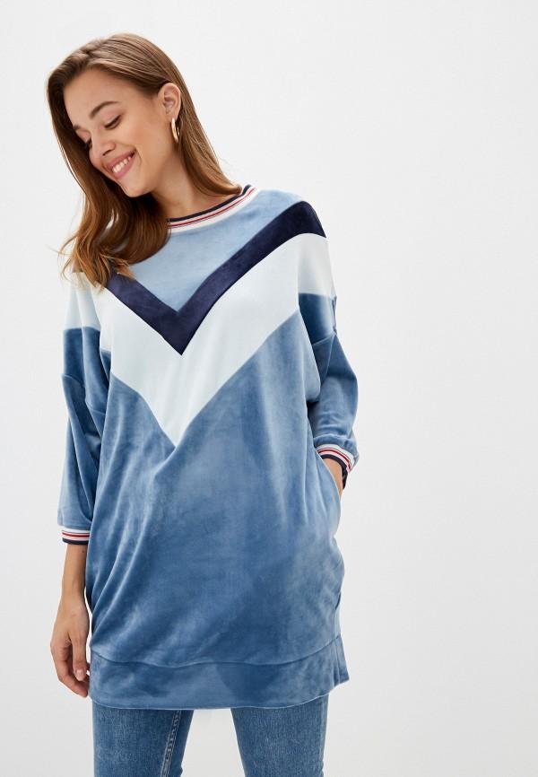женское платье united colors of benetton, голубое