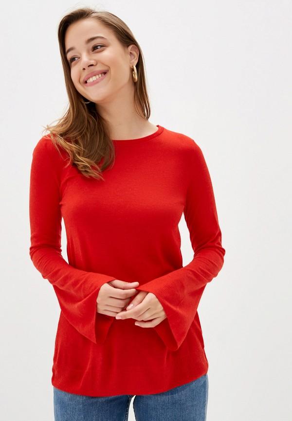 женский лонгслив united colors of benetton, красный