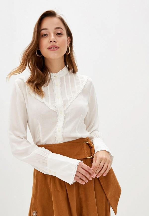женская блузка united colors of benetton, белая