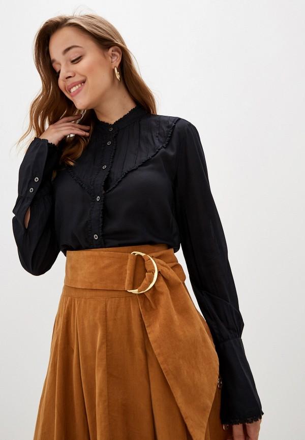 женская блузка united colors of benetton, черная