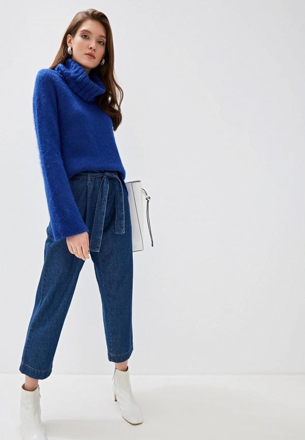 Фото 2 - женский свитер United Colors of Benetton синего цвета
