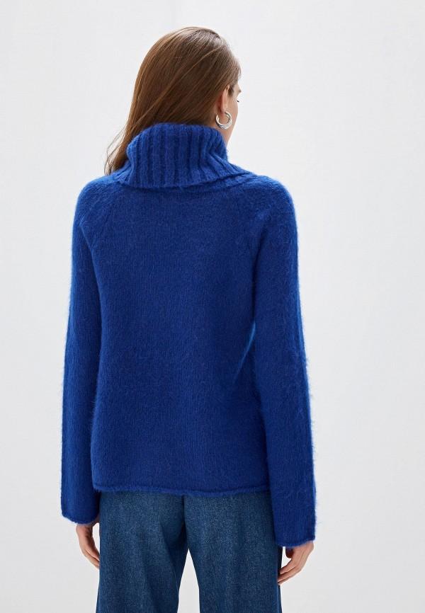 Фото 3 - женский свитер United Colors of Benetton синего цвета