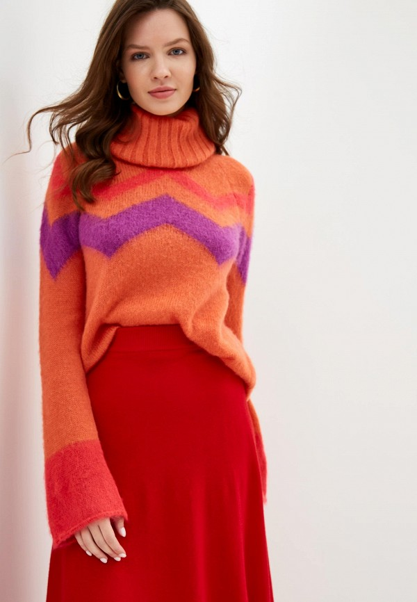 женский свитер united colors of benetton, оранжевый