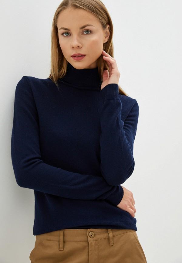 женская водолазка united colors of benetton, синяя