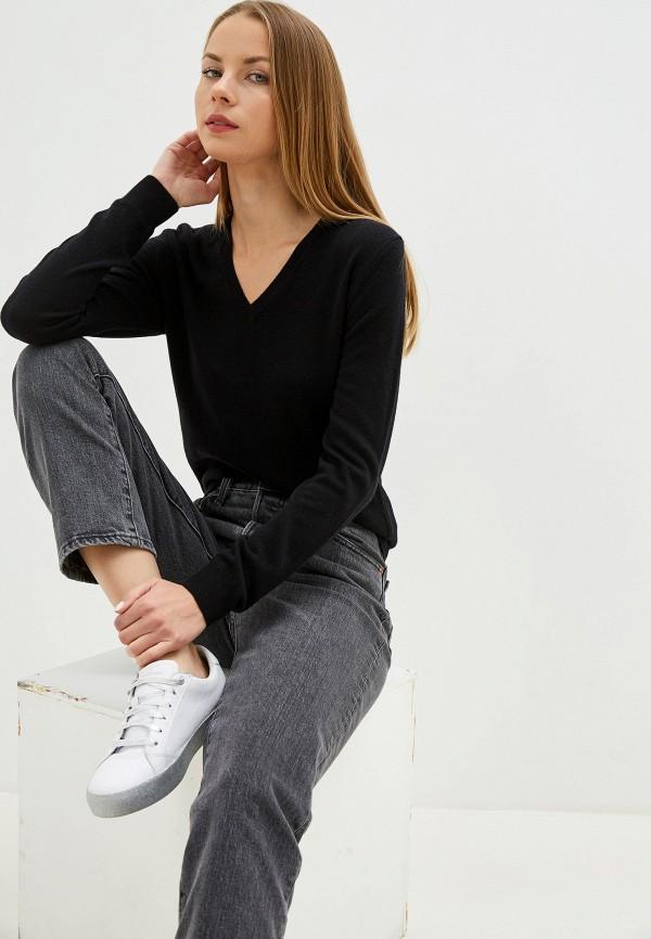 женский пуловер united colors of benetton, черный