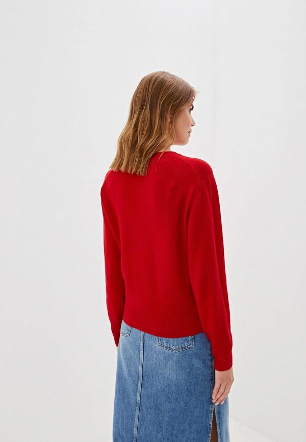 Фото 3 - женский джемпер United Colors of Benetton красного цвета