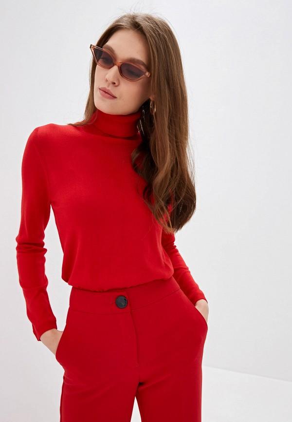 женская водолазка united colors of benetton, красная