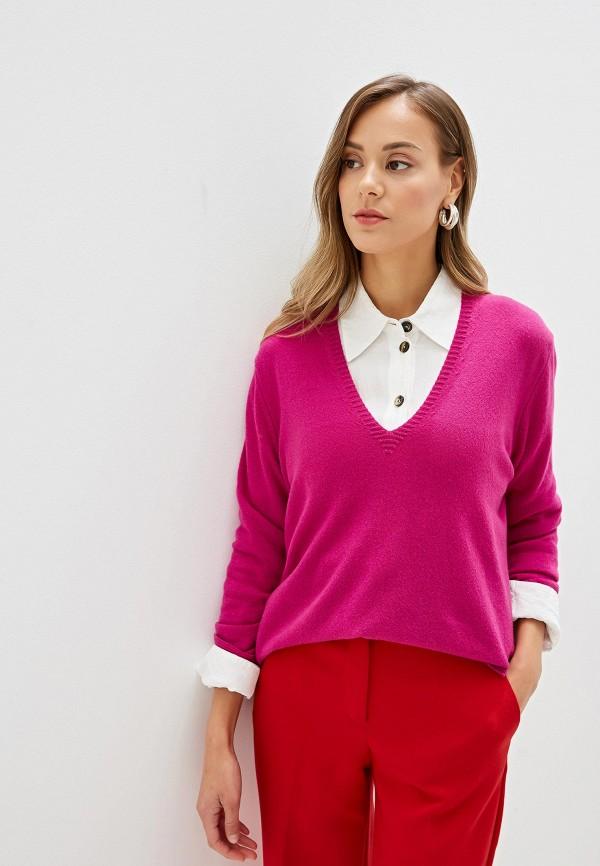 женский пуловер united colors of benetton, фиолетовый
