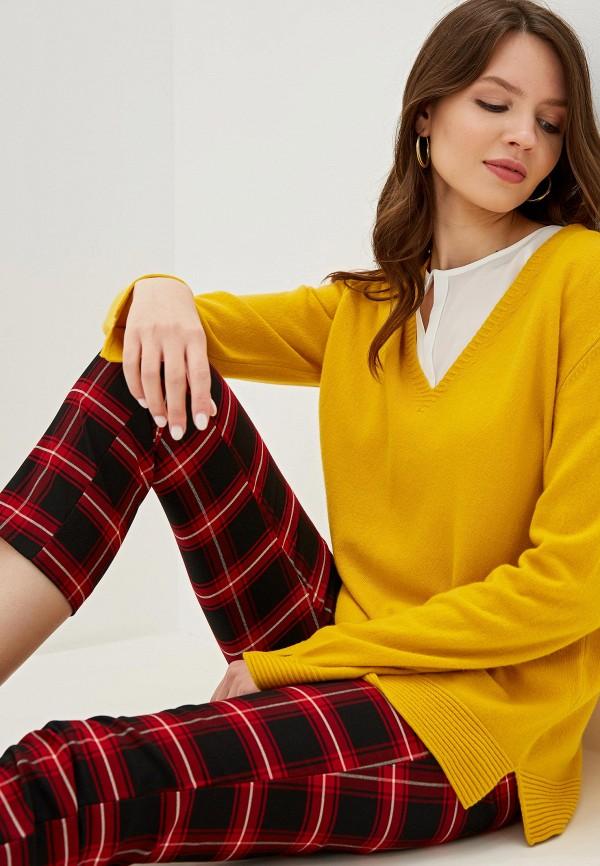 женский пуловер united colors of benetton, желтый