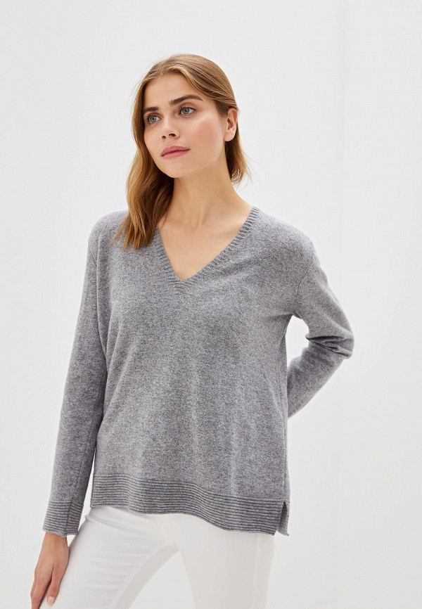 женский пуловер united colors of benetton, серый