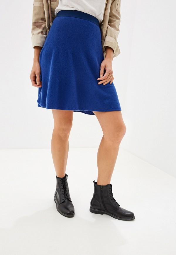 женская юбка united colors of benetton, синяя