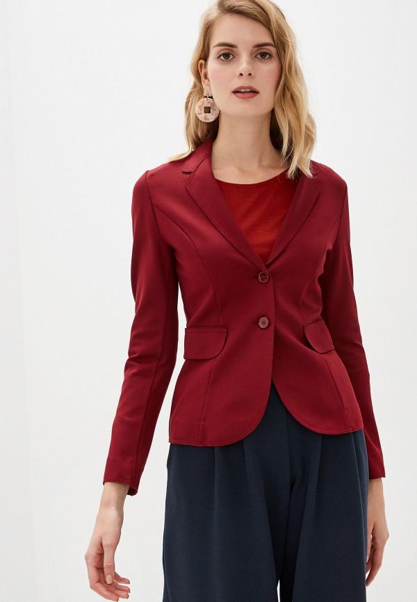 женский пиджак united colors of benetton, бордовый