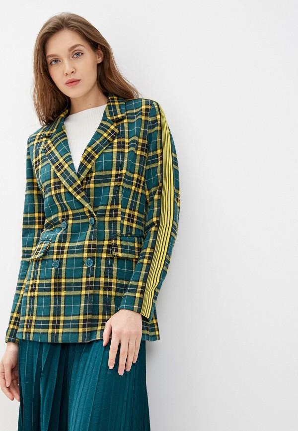 женский пиджак united colors of benetton, зеленый