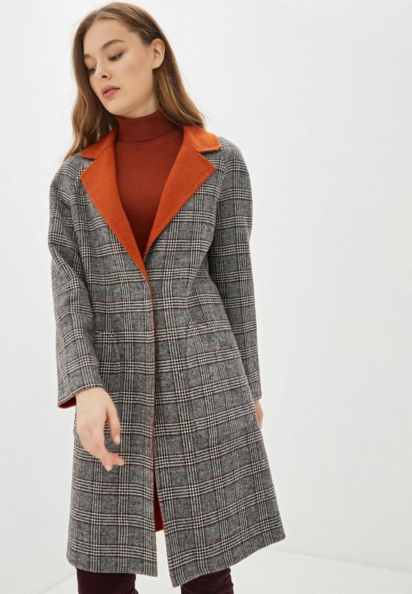 женское пальто united colors of benetton, серое