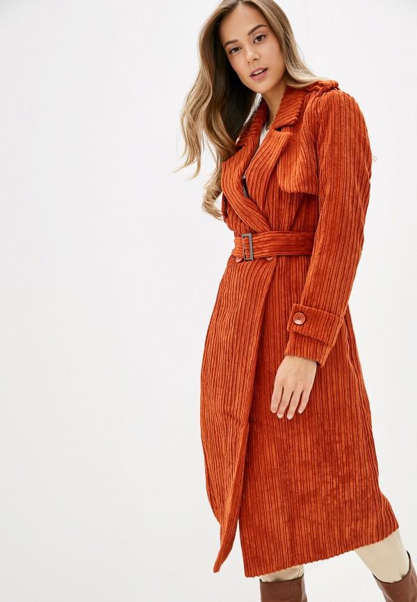 женский плащ united colors of benetton, оранжевый
