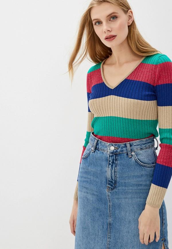 женский пуловер united colors of benetton, разноцветный