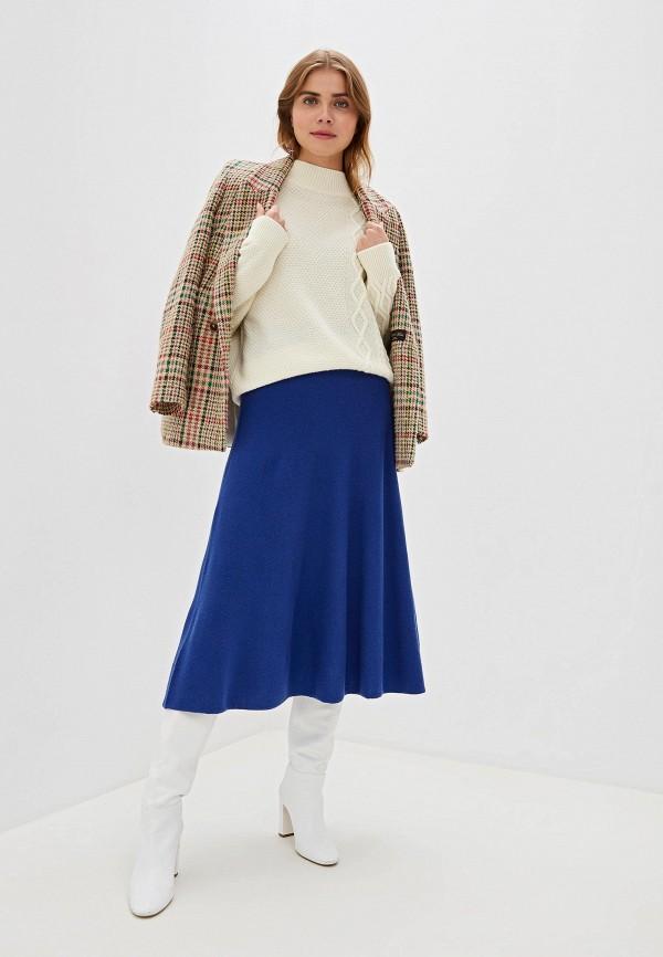 Фото 2 - женский свитер United Colors of Benetton белого цвета