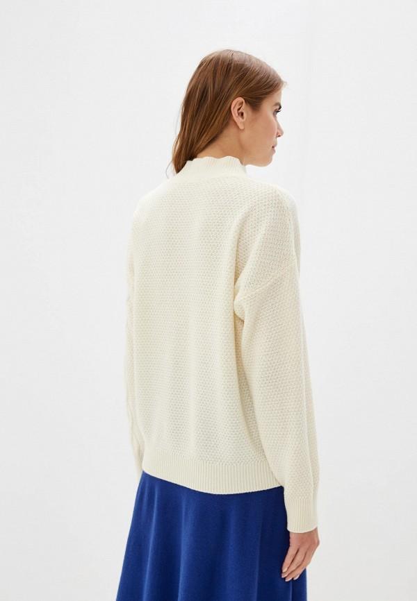 Фото 3 - женский свитер United Colors of Benetton белого цвета