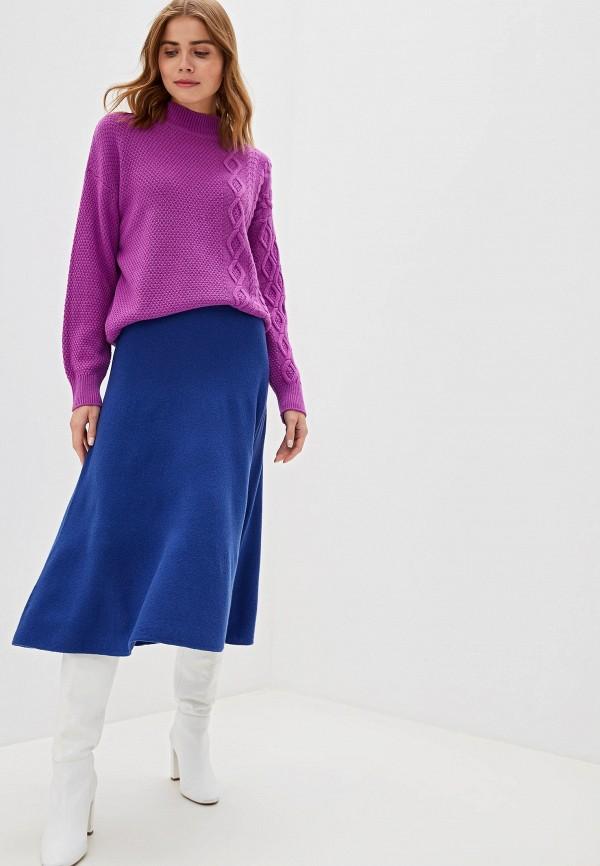 Фото 2 - женский свитер United Colors of Benetton фиолетового цвета