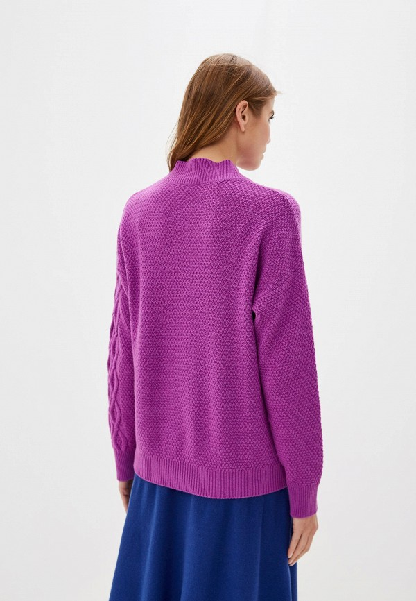 Фото 3 - женский свитер United Colors of Benetton фиолетового цвета