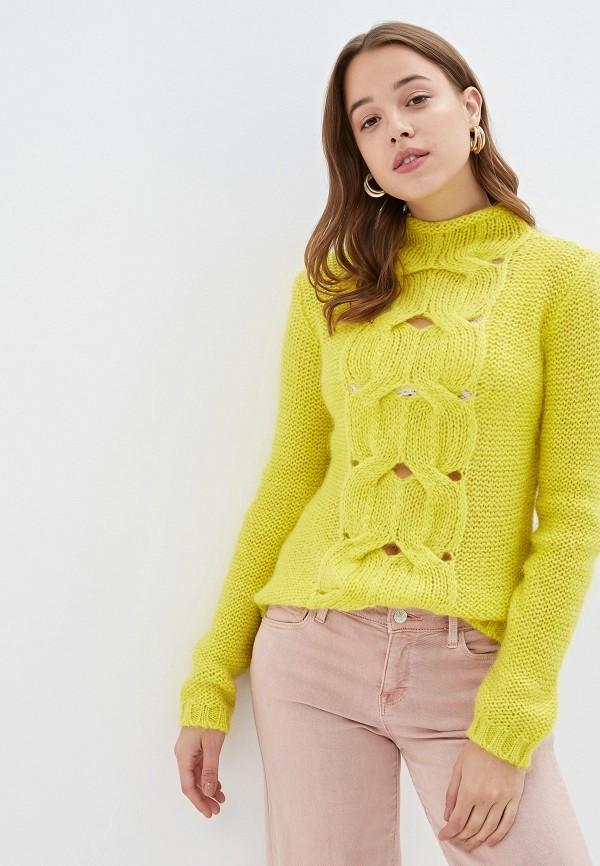женский свитер united colors of benetton, желтый