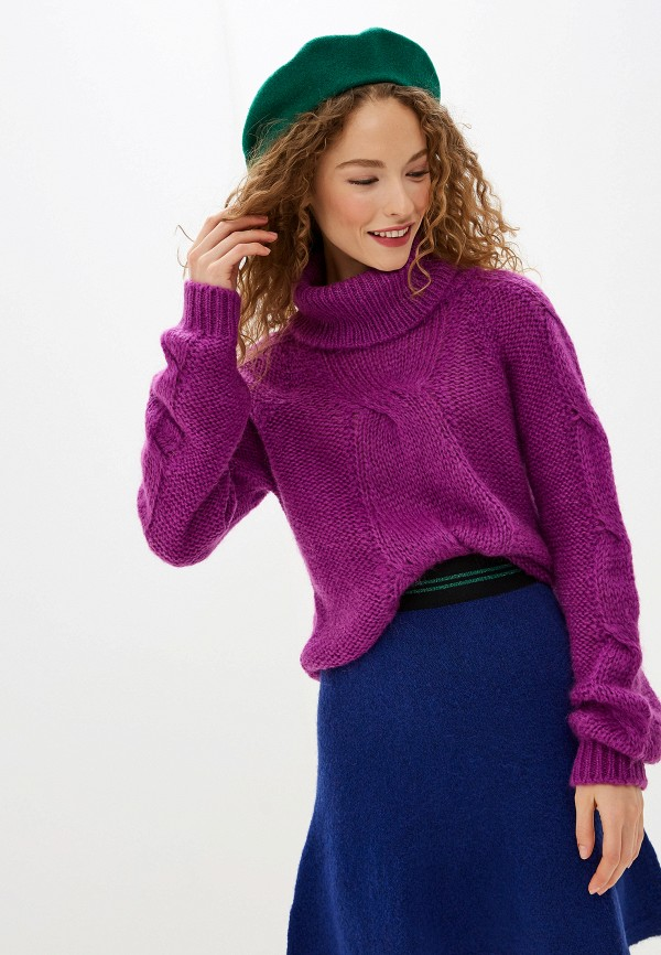 женский свитер united colors of benetton, фиолетовый