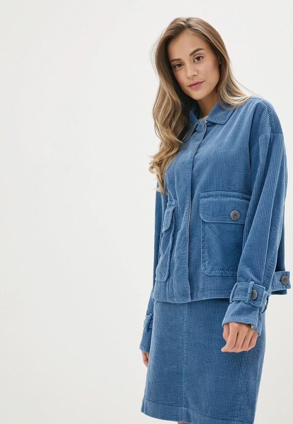 женская куртка united colors of benetton, синяя