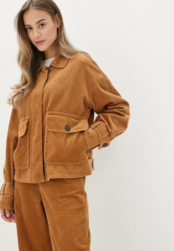 женская куртка united colors of benetton, коричневая