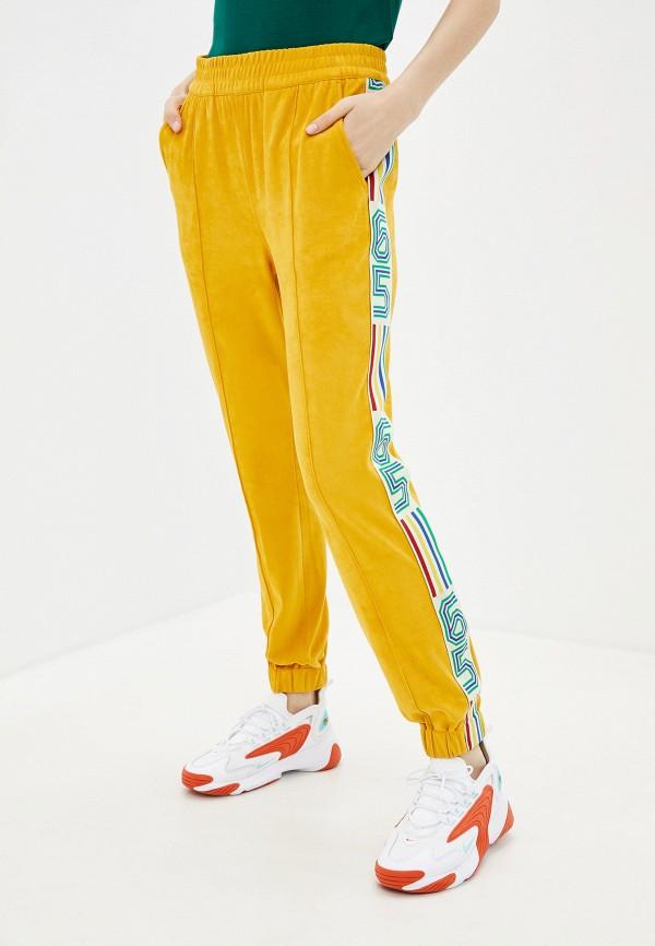 женские спортивные брюки united colors of benetton, желтые