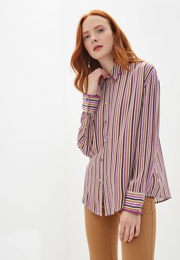 женская блузка united colors of benetton, разноцветная