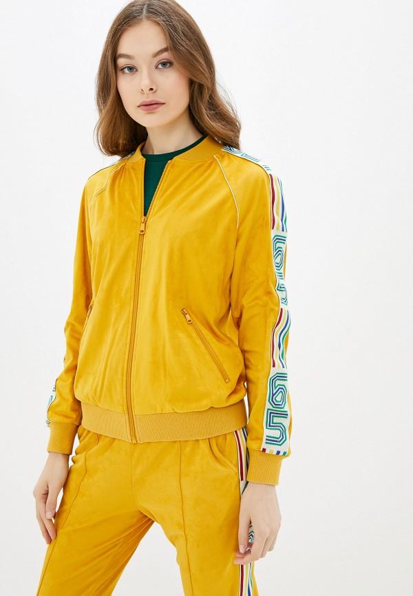 женская куртка united colors of benetton, желтая