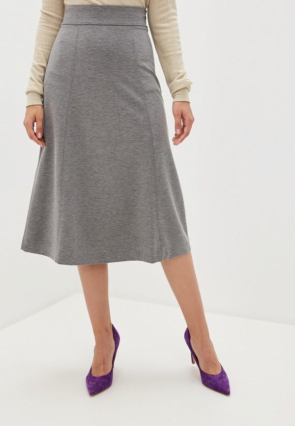 женская юбка united colors of benetton, серая