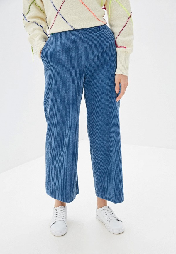 женские брюки united colors of benetton, голубые