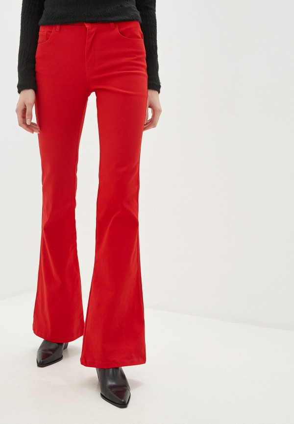 женские брюки united colors of benetton, красные