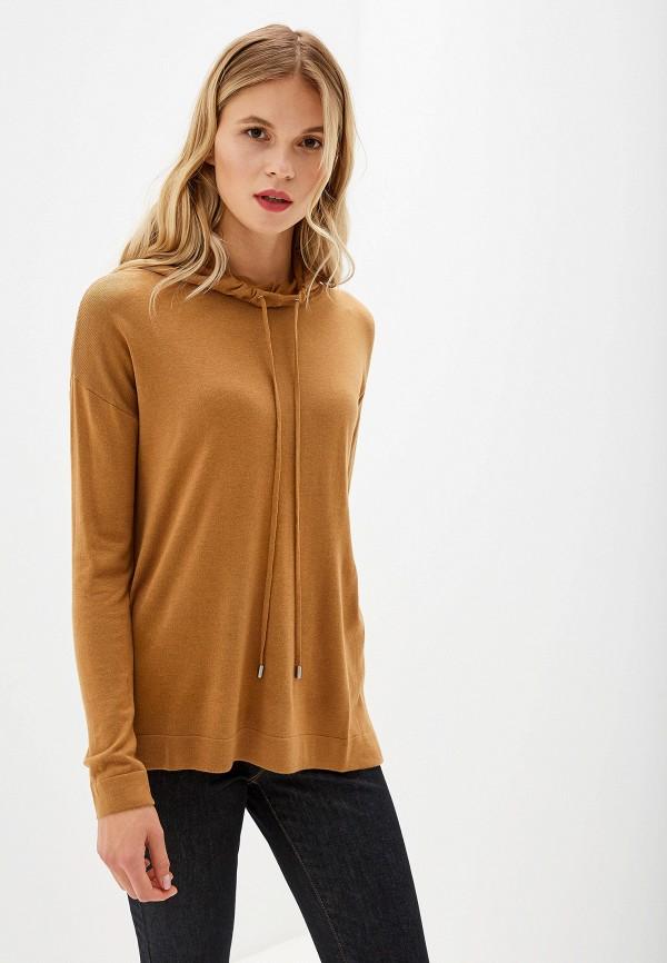 женский джемпер united colors of benetton, коричневый