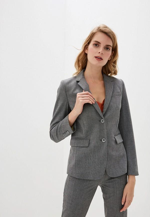 женский пиджак united colors of benetton, серый