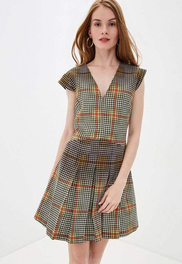 женское платье united colors of benetton, разноцветное